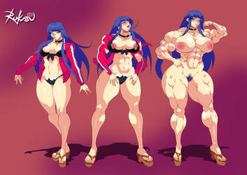 FGO Martha - Muscle Growth Sequence by Rukasusan