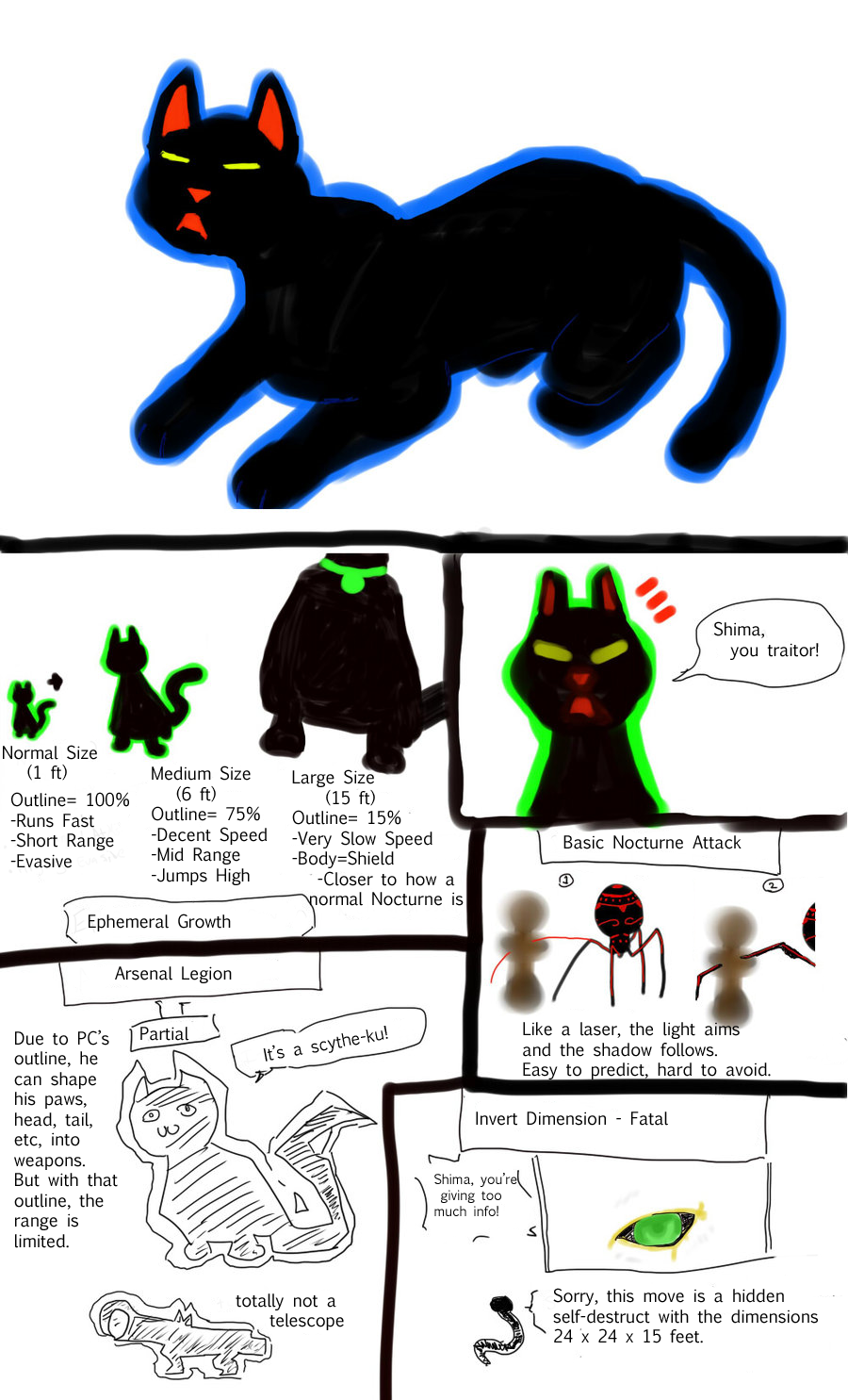 Paper Cat ref. by mussatsu-lain