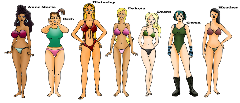 total drama island naked female characters