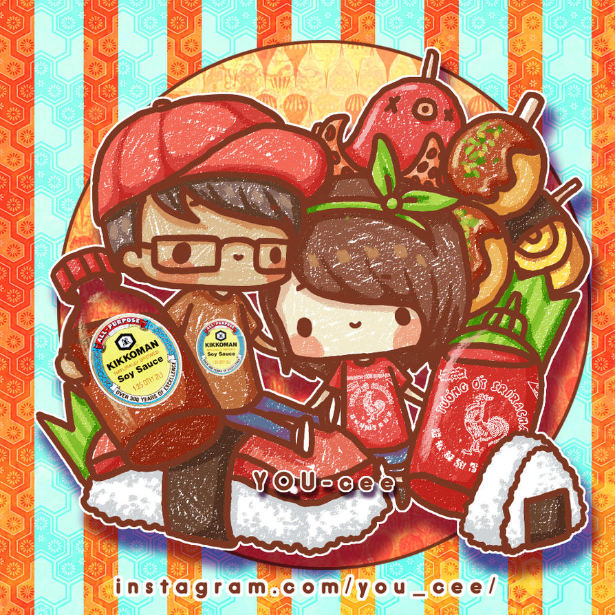 Sriracha and Kikkoman by YOU-cee