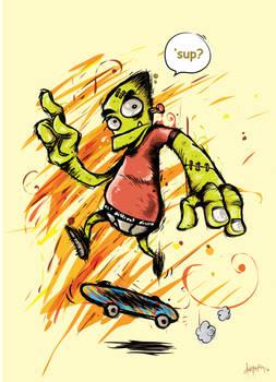 frank jr learning to skate