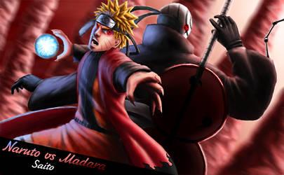 Naruto vs Madara 1 by SaitoMaks