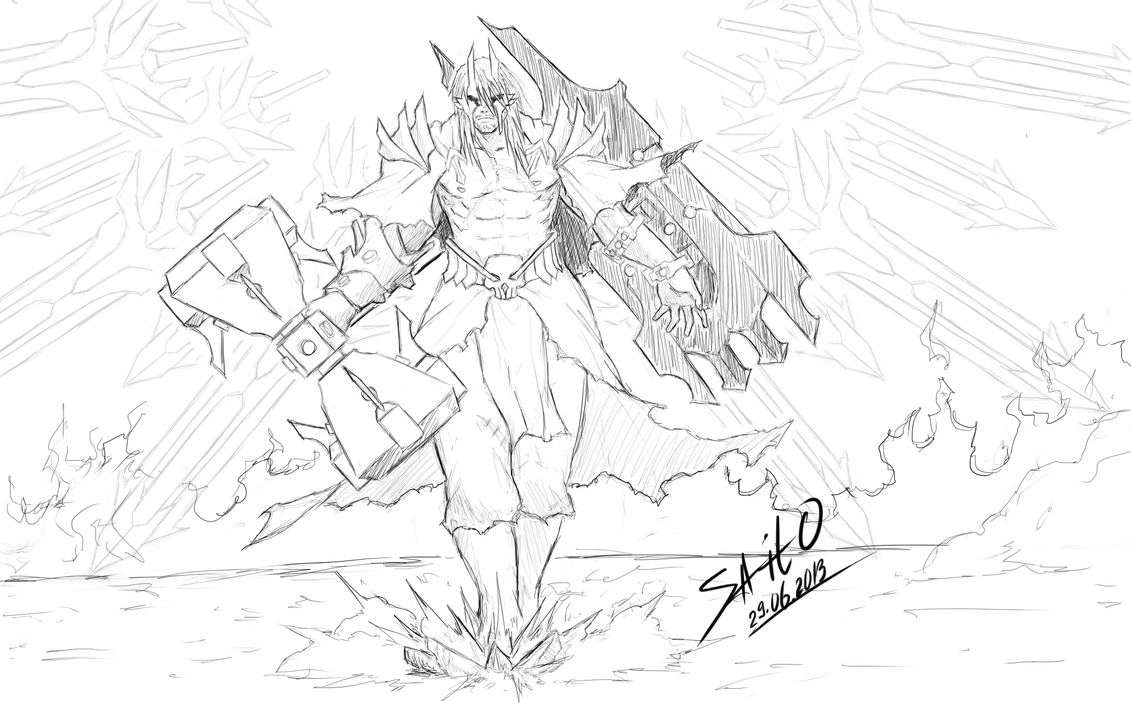 Greek God Ares Drawing Ares - God of War by S...