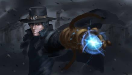 night drawing - steampunk sketch