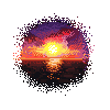 pixel Sunset by sackofsquan