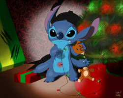 Stitch's first Christmas