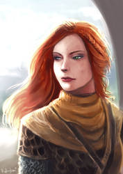Red Haired Guardian by oshirockingham