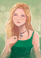 Blonde in Green by oshirockingham