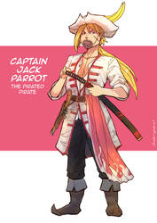 The Pirated Pirate Captain Jack Parrot