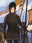 Joanette the Mercenary Leader by oshirockingham
