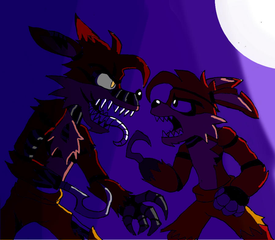 It's just a graphic of Universal Nightmare Foxy Drawing
