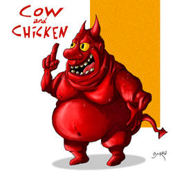 Red Guy (cow and chicken)