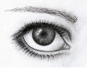 how to draw a detailed eyeball
