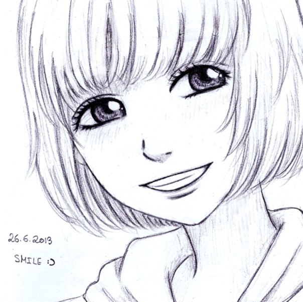 The gallery for --> Anime Girl Smiling Drawing  How To Draw An Anime Smile