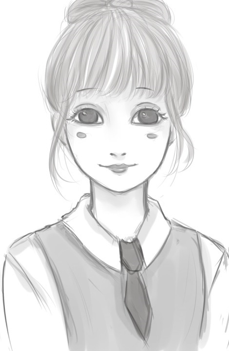 Random Anime Girl Sketch By Lee Chan97 On Deviantart