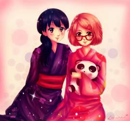 ~ Mirai and Mitsuki (fanart) ~ by Lee-chan97