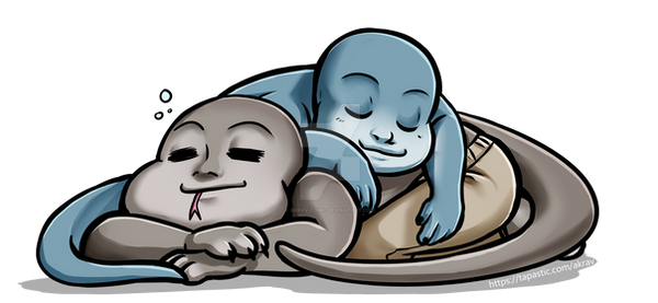 (20%OFF today) Sleepy lizard babies by Akrav-Comic