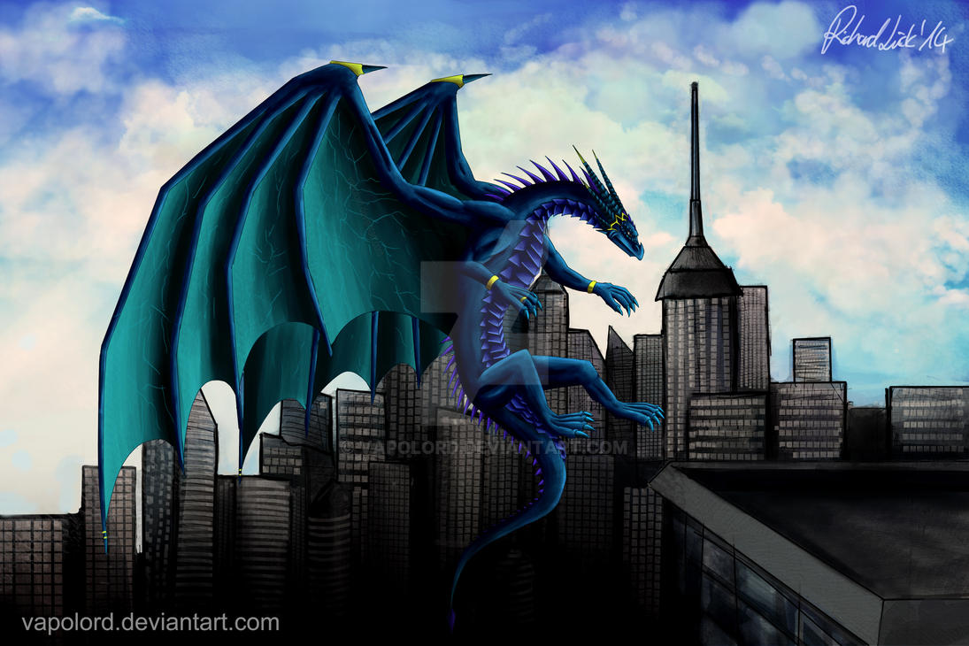 Blue Dragon Kronos Redesign Skyline by Vapolord