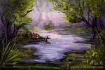 Landscape- Practise 4: Swamp Speedpaint #4