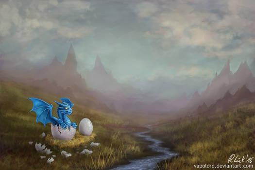 Happy Easter! (Dragon Hatchling)