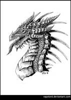 Inktober #2 Dragonhead by Vapolord