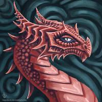Stylized Psycho Dragon by Vapolord