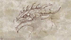 Sceptic Dragon Portrait