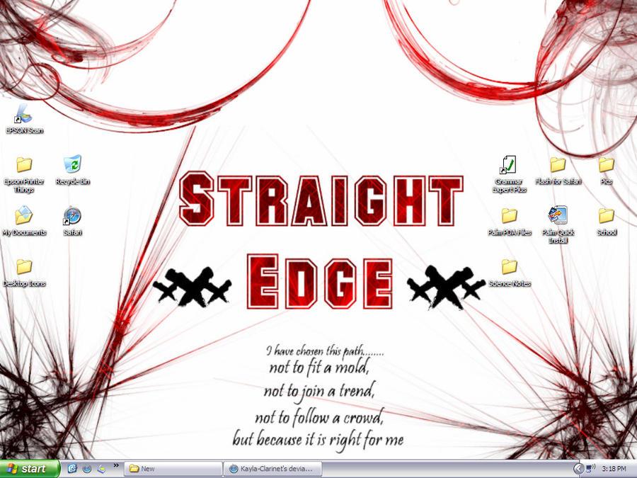 Straight Edge Desktop by Kayla-Clarinet on DeviantArtStraight Edge Desktop