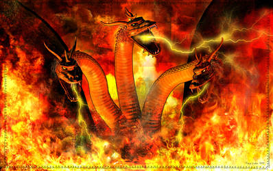 King Ghidorah In Hell by TonyLuke
