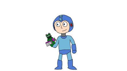 Mega Man With Minigun Cyber Module