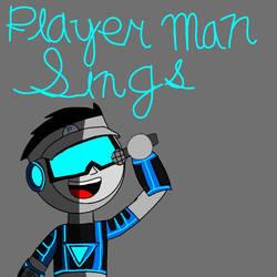 Player Man sings album cover