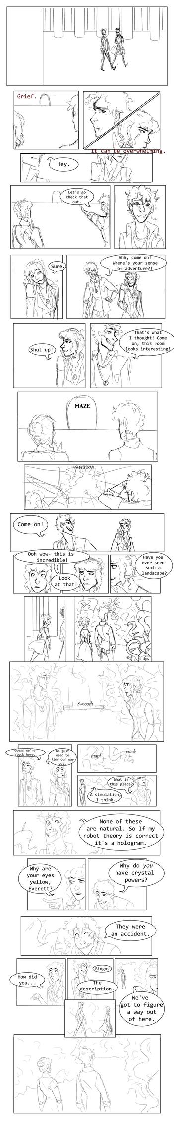 Tower: Round One Page Four by chamimation