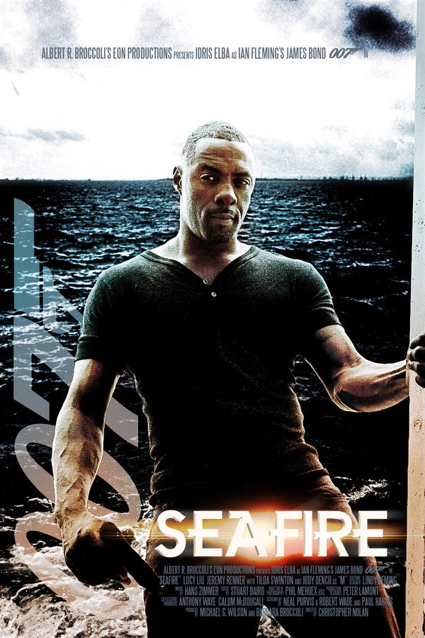 Idris Elba as James Bond in 'SeaFire' by olukemi