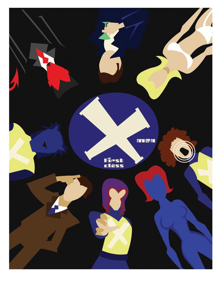 Minimalist Classroom Jobs : Xmen first class poster by thenoirguy on deviantart