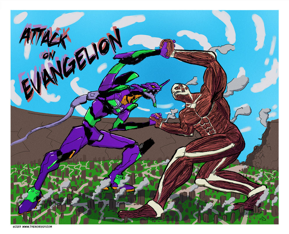 Attack on Evengalion by TheNoirGuy