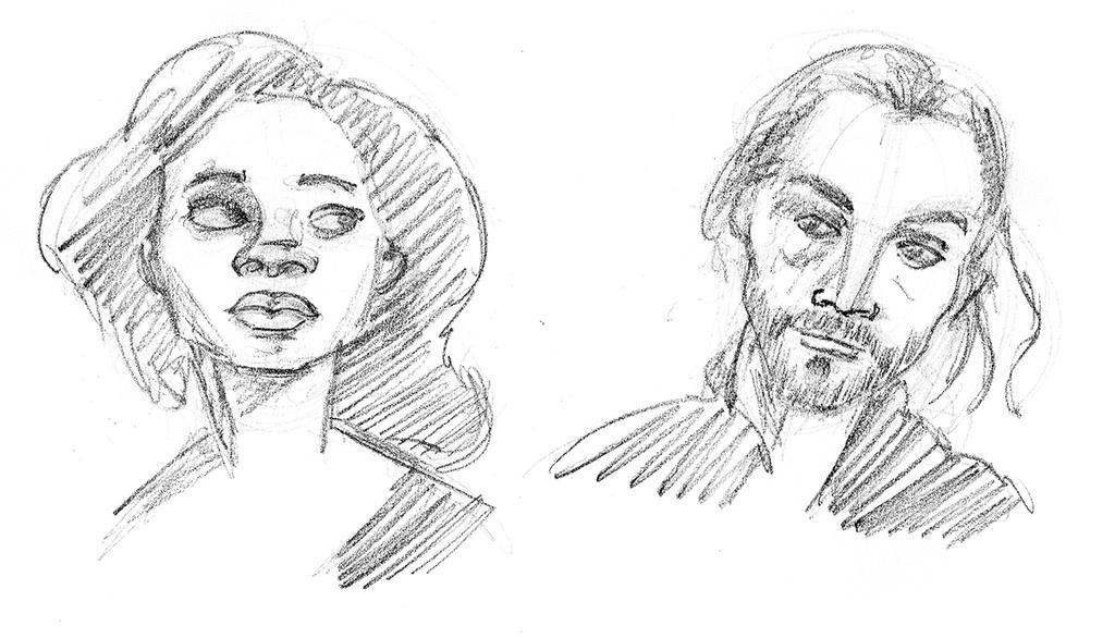Sleepy Hollow sketches by TheNoirGuy
