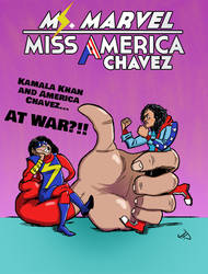 Ms. Marvel/Miss America Team-up cover 3 by TheNoirGuy