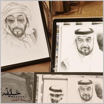 Zayed , Khalifa , Mohammed by khalifaAlShamsi