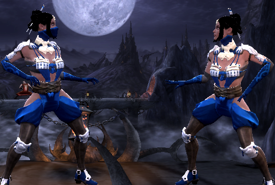 Kitana skin from MKX for MK9 by AlterL by DeathColdUA on