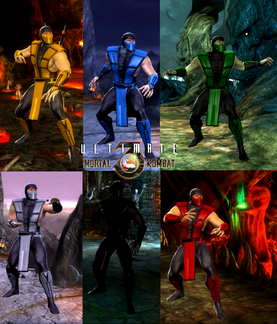 MK9 - UMK3 Ninjas costumes mod by K0BR4 by DeathColdUA on
