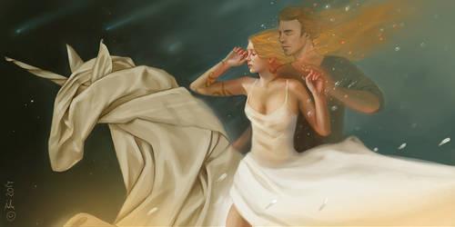 Dream of a Unicorn by Vesea