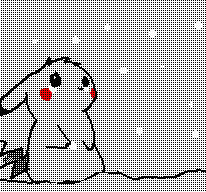 cute winter pikachu by MRraccoon67