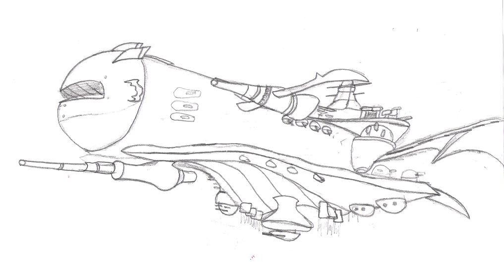 Halberd Sketch by Kuzer1000