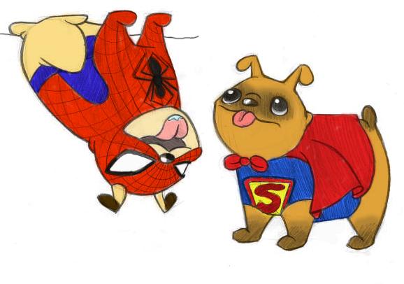 Super Pugs by broolee