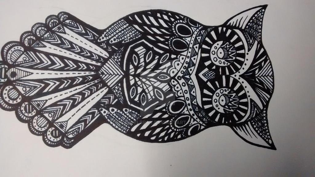 Zentangle Owl By Kellylbray On DeviantArt