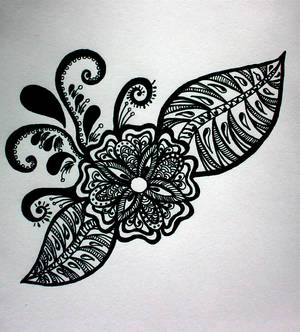 Zentangle Flower