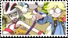 Laserbladeshipping (Clemont x Korrina) Stamp by misawafujisaki-stamp
