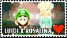 Luigi x Rosalina Stamp by misawafujisaki-stamp