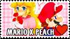 Mario X Peach Stamp by misawafujisaki-stamp