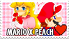 Mario X Peach Stamp by misawafujisaki-stamp
